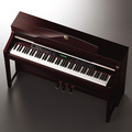 CLP-380 Polished Mahogany Console View