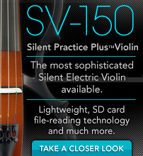 SV-150. Silent Practice Plus Violin.The most sophisticated Silent Electric Violin available.