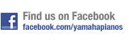 Find Us on Facebook - facebook.com/yamahapianos