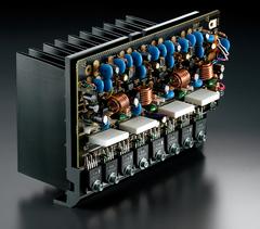 大容量制振ヒートシンク採用パワーアンプユニット画像