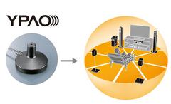 部屋に合わせた最適な音響特性が自動的に得られるYPAOイメージ図