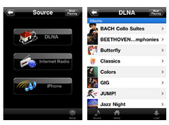 NETWORK PLAYER CONTROLLERの操作画面イメージ