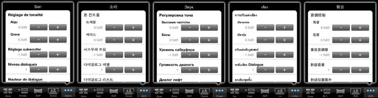 AV Controller App Language