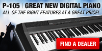P-105 Great New Digital Piano
