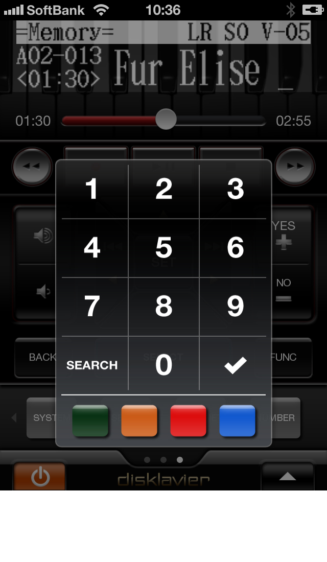Controlling Disklavier™ with iPhone, iPod Touch and iPad