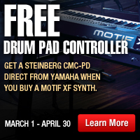 Free Drum Pad Controller Get a steingerg CMC-PD direct from yamaha when you buy a motif XF synth