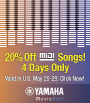 YMIA 20% off MIDI Songs