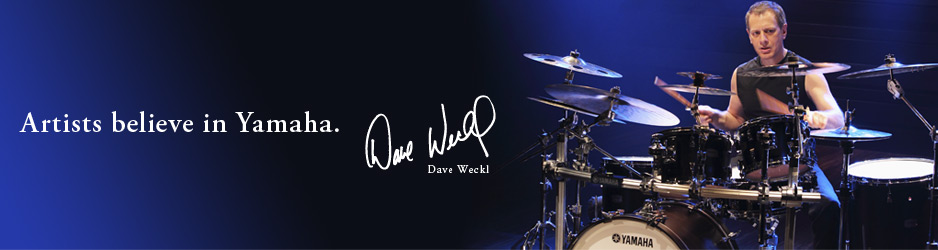 Artists believe in Yamaha - Dave Weckl