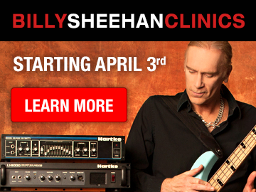 Billy Sheehan Clinics Banner