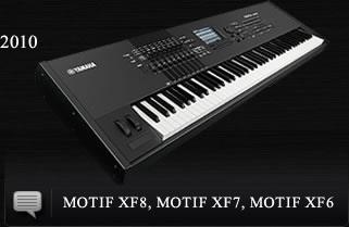 2010 MOTIF XF8, MOTIF XF7, MOTIF XF6