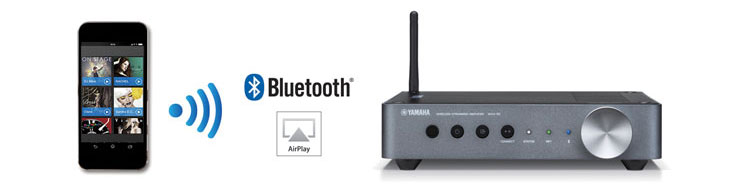 yamaha wxa 50. stream virtually any audio source via bluetooth® as an input to the wxa-50. bluetooth sources can be redistributed through wi-fi other musiccast devices. yamaha wxa 50