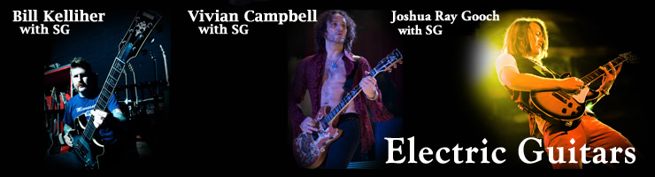 Electric Guitar Category Header with Artists