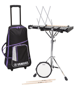 Sbk 350 student bell kit student percussion musical for Yamaha student bell kit with backpack and rolling cart