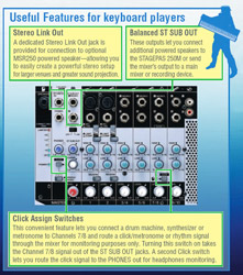 Useful Features for Keyboard Players