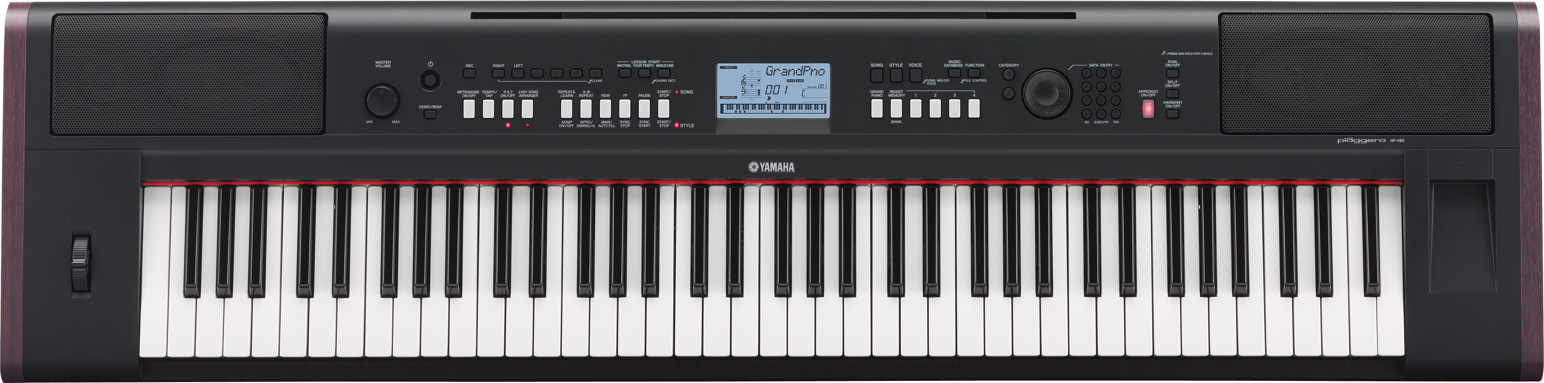 Kurnia Musik Semarang  YAMAHA Piaggero NP V80 Portable Piano Keyboard