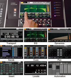 DAW System NUAGE: Multifunction Touch-screen Display and Knobs