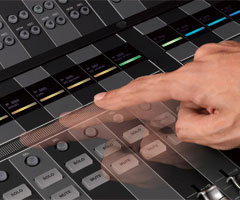 DAW System NUAGE: Touch Slider for Fast Channel Access