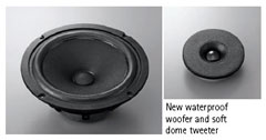 New waterproof woofer and soft dome tweeter