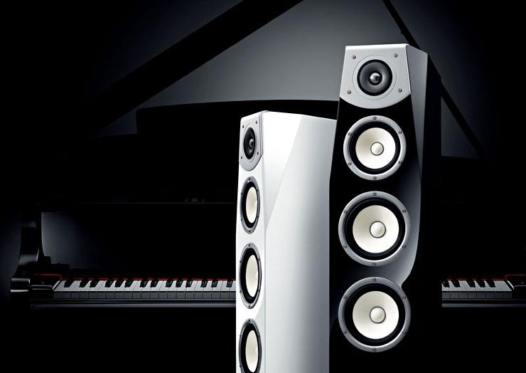 Yamaha Piano White Speakers