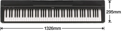 Yamaha P35 portable digital piano - dimensions
