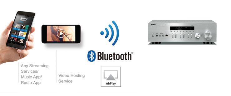Yamaha R-N402D Bluetooth und Airplay Nutzung