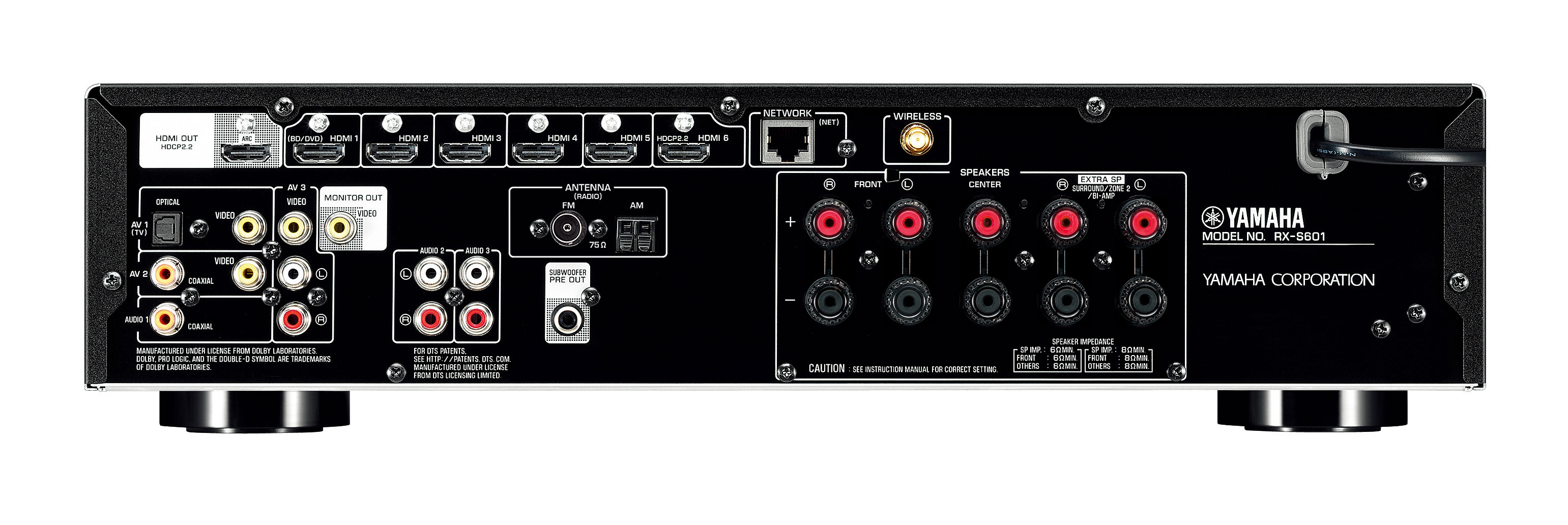 Yamaha Receiver Arc Support