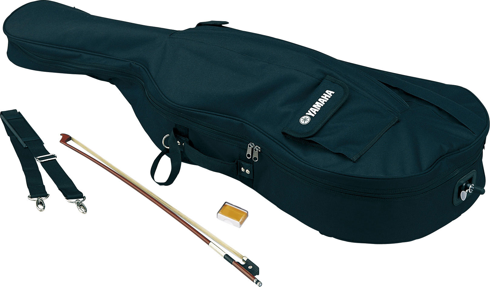 Sets include lightweight soft case, bow and rosin