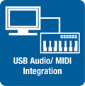 Bi-directional USB Audio/MID Interfacing