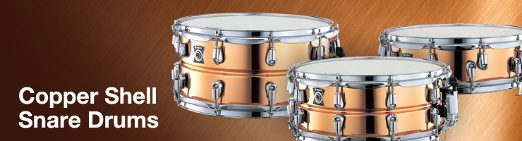 CopperShellSnareDrums