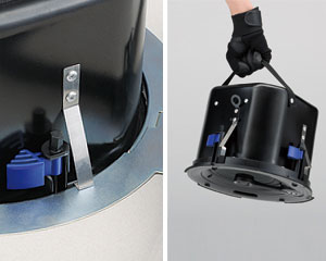 Series Speakersu0027 Anti Drop Tab Allows Them To Be Mounted Temporarily In The  Ceiling, Freeing Your Hands For Better Safety And Ease Of Installation.