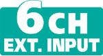 6 Ch Ext Input